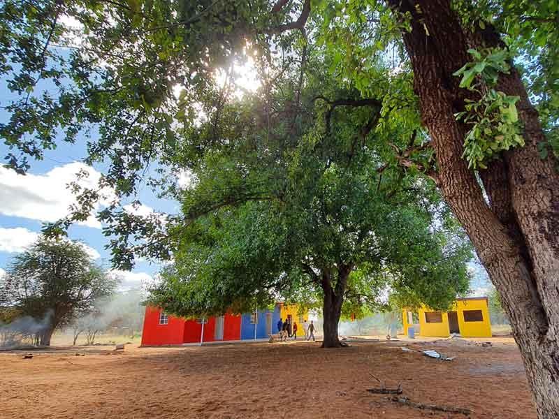 Brand new, bright coloured Dambale Preschool